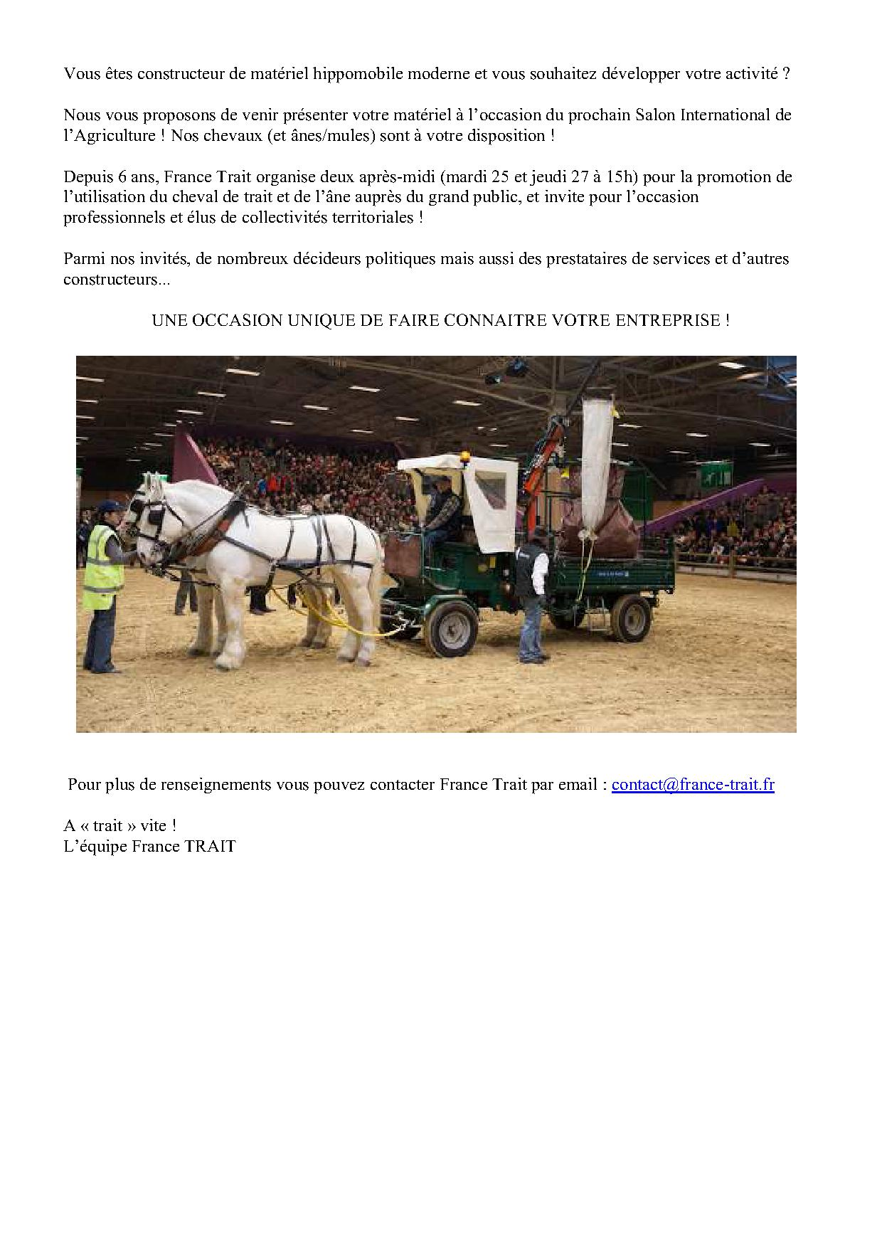 France trait salon international de l 39 agriculture - Midi en france salon de l agriculture ...